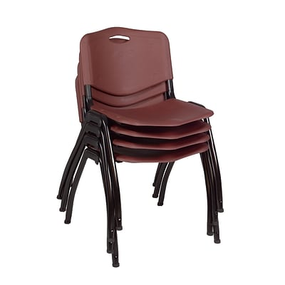 Regency M Stack Chair (4 pack)- Burgundy
