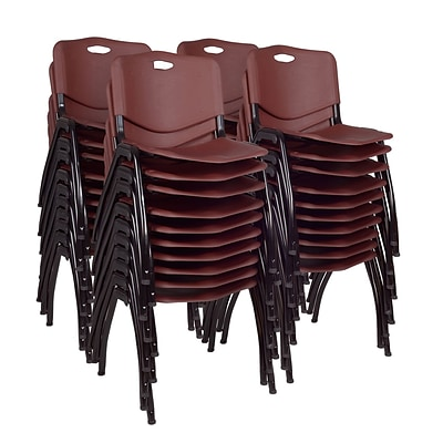 Regency M Stack Chair (40 pack)- Burgundy