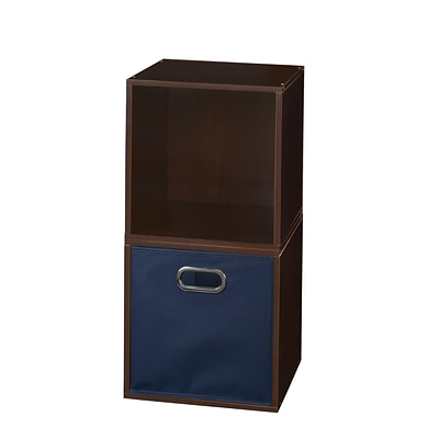 Niche Cubo Storage Set - 2 Cubes and 1 Canvas Bin- Truffle/Blue