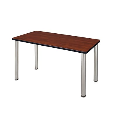 Regency Kee 42 x 24 Training Table- Cherry/ Chrome