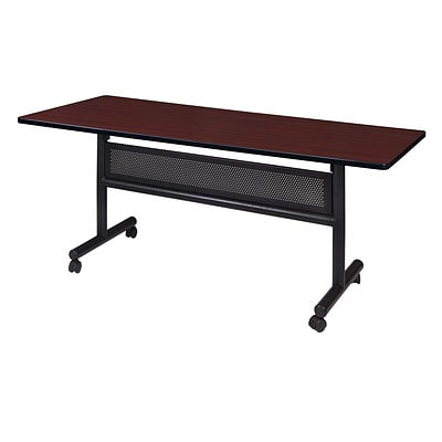 Regency Kobe 60 x 30 Flip Top Mobile Training Table with Modesty- Mahogany