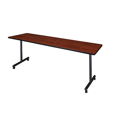Regency Kobe 84 x 24 Mobile Training Table- Cherry