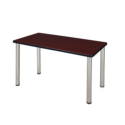 Regency Kee 48 x 24 Training Table- Mahogany/ Chrome