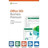 Microsoft Office 365 Business Premium 12-month subscription, 1 person, PC/Mac Key Card