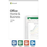 Microsoft Office Home and Business 2019 1 device, Windows 10 PC/Mac Key Card