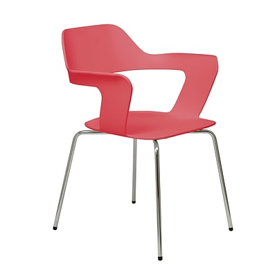 NRS. (2-1-17)  KFI, Julep Collection, Steel frame, stack chair, White Poly, 2500CH-Red