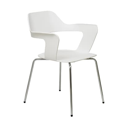 NRS. (2-1-17)  KFI, Julep Collection, Steel frame, stack chair, White Poly, 2500CH-White