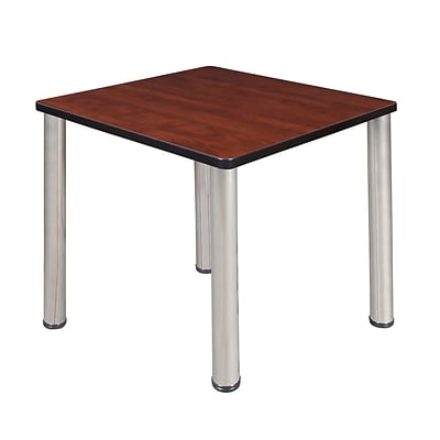 Regency Kee 30 Square Breakroom Table- Cherry/ Chrome