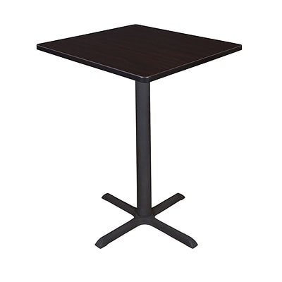Regency Cain 30 Square Cafe Table- Mocha Walnut