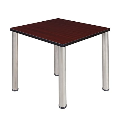 Regency Kee 30 Square Breakroom Table- Mahogany/ Chrome
