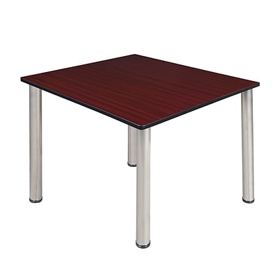 Regency Kee 48 Square Breakroom Table- Mahogany/ Chrome