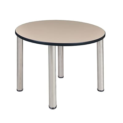 Regency Kee 36 Round Breakroom Table- Beige/ Chrome