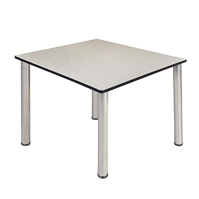 Regency Kee 48 Square Breakroom Table- Maple/ Chrome