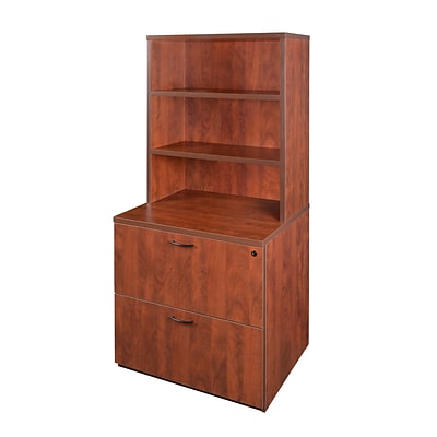 Regency Sandia 30 Lateral File with 35 Open Hutch featuring Lockdowel Assembly- Cherry