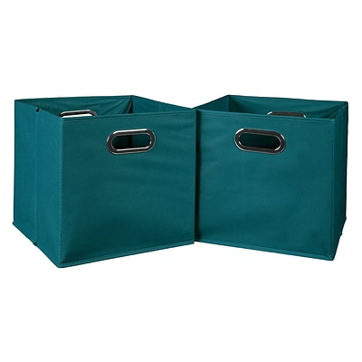 Niche Cubo Set of 2 Foldable Fabric Storage Bins- Teal