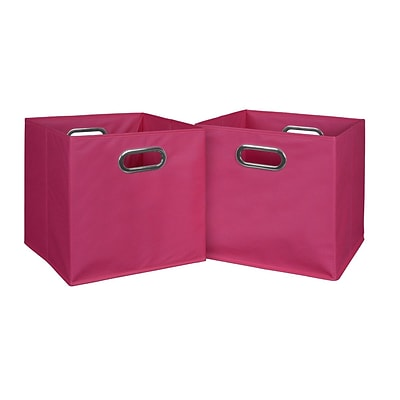 Niche Cubo Set of 2 Foldable Fabric Storage Bins- Pink