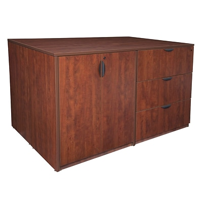 Regency Legacy Stand Up 2 Storage Cabinet/ 2 Lateral File Quad- Cherry