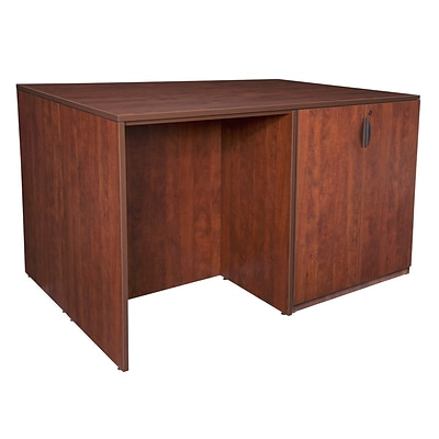 Regency Legacy Stand Up Desk/ 3 Storage Cabinet Quad- Cherry