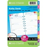 2020 Day-Timer® Kathy Davis® 5 1/2 x 8 1/2 2 Page Per Week Refill, Loose-leaf,12 Months, January S