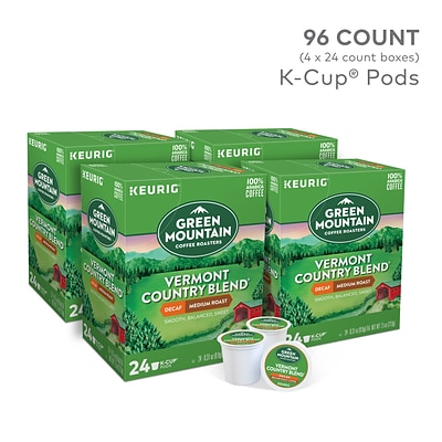Green Mountain Vermont Country Blend Decaf Coffee, Keurig® K-Cup® Pods, Medium Roast, 96/Carton (GMT7602CT)