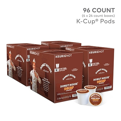 Donut House Decaf Coffee, Keurig® K-Cup® Pods, Light Roast, 96/Carton (7534)