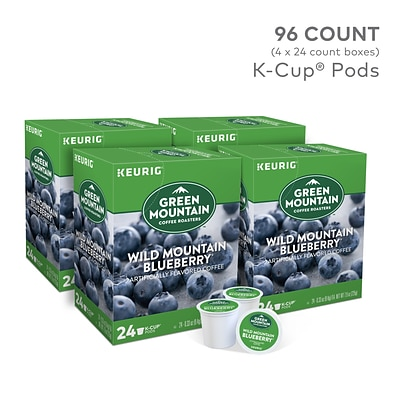 Green Mountain Wild Mountain Blueberry Coffee, Keurig K-Cup Pods, Light Roast, 96/Carton (67832)