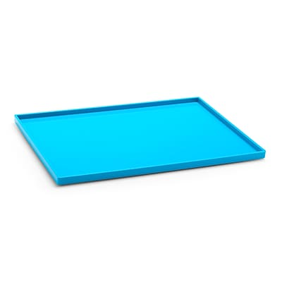 Poppin Pool Blue Large Slim Tray, 4 Pack (106310)