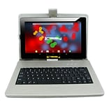 LINSAY F10 Series 10.1 Tablet, WiFi, 2GB RAM, 32GB,  Android 10, Black w/Silver Keyboard (F10XIPSBD