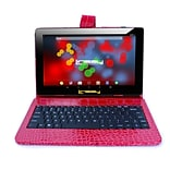 LINSAY F10 Series 10.1 Tablet, WiFi, 2GB RAM, 32GB , Android 10, Black w/Red Crocodile Keyboard (F1