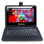 LINSAY F10 Series 10.1 Tablet, WiFi, 2GB RAM, 32GB,  Android 10, Black w/Black Keyboard (F10XIPSBK)