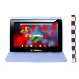 LINSAY F10 Series 10.1 Tablet, WiFi, 2GB RAM, 32GB, Android 10, Black w/Purple & White Case (F10XIP