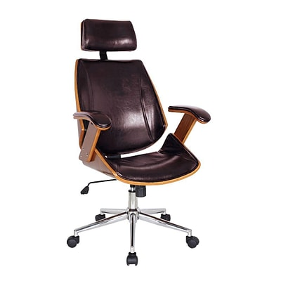 Boraam 97916 Lucas Upholstered Desk Chair, Black