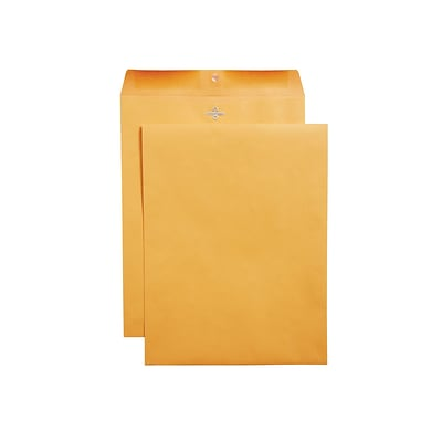 Staples Clasp & Moistenable Glue Catalog Envelopes, 10L x 13H, Brown, 100/Box (187039/19272)