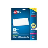Avery Easy Peel Laser Address Labels, 1/2 x 1 3/4, White, 80 Labels/Sheet, 25 Sheets/Pack (5267)