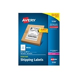 Avery Internet Laser Shipping Labels, 5 1/2 x 8 1/2, White, 2 Labels/Sheet, 100 Sheets/Box (5126)