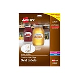 Avery Print-to-the-Edge Laser/Inkjet Specialty Labels, 2 x 3 1/3, Glossy White, 8 Labels/Sheet, 10