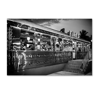 Trademark Fine Art Philippe Hugonnard US Diner 12 x 19 Canvas Stretched (190836119004)
