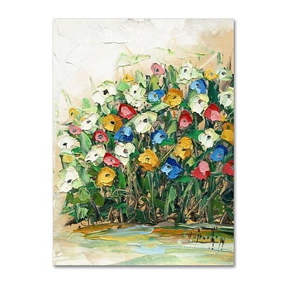 Trademark Fine Art Hai Odelia Spring Flowers in a Vase 10 14 x 19 Canvas Stretched (190836068982)
