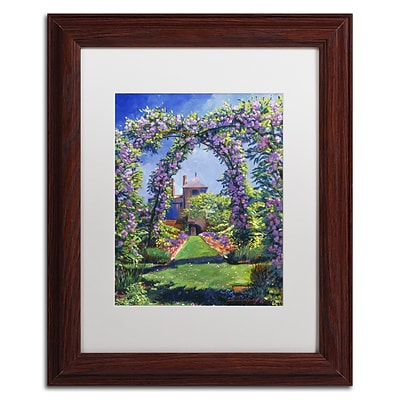 Trademark Fine Art David Lloyd Glover English Rose Arbor 11 x 14 Matted Framed (190836225248)