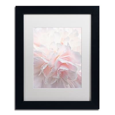 Trademark Fine Art Cora Niele Pink Peony Petals IV 11 x 14 Matted Framed (190836307685)