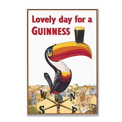 Trademark Fine Art Guinness Brewery Lovely Day For A Guinness VIII 12 x 19 Wall Art (190836244478)