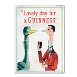 Trademark Fine Art Guinness Brewery Lovely Day For A Guinness XIII 14 x 19 Wall Art (19083624519