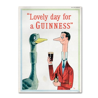 Trademark Fine Art Guinness Brewery Lovely Day For A Guinness XIII 14 x 19 Wall Art (190836245192)