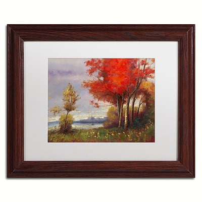 Trademark Fine Art Daniel Moises Landscape with Red Trees 11 x 14 Matted Framed (190836189236)