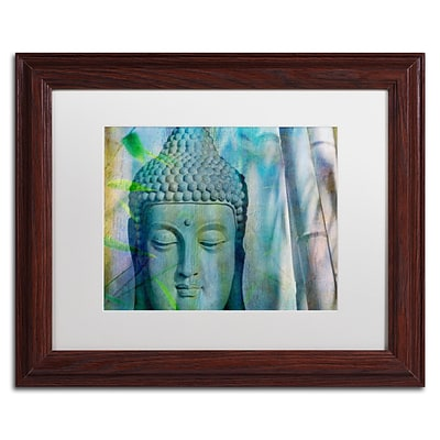 Trademark Fine Art Cora Niele Buddha with Bamboo 11 x 14 Matted Framed (190836252145)