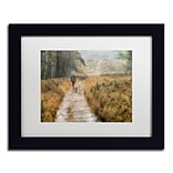 Trademark Fine Art Cora Niele Walking the Dogs 11 x 14 Matted Framed (190836316922)