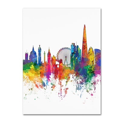 Trademark Fine Art Michael Tompsett London England Skyline Tall 14 x 19 Canvas Stretched (190836097005)