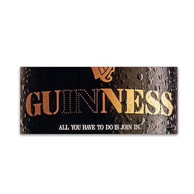 Trademark Fine Art Guinness Brewery All You Have To Do Is Join In 10 x 24 Wall Art (190836243631)