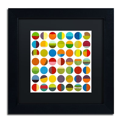 Trademark Fine Art Michelle Calkins Forty Nine Circles 11 x 11 Matted Framed (190836072422)