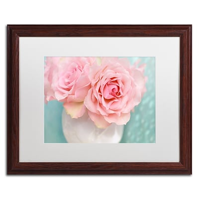 Trademark Fine Art Cora Niele Pink Rose Bouquet 16 x 20 Matted Framed (190836260195)